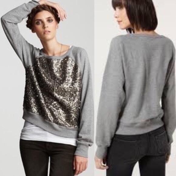 5c1228753a9 Gold Sequin Front Sweatshirt Grey. M 5b80788a25457ae462906add